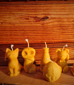 bougie Noël, chat, nounours, grenouille, ruche