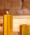 bougie étoile pure cire d'abeille